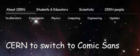 CERN Comic Sans