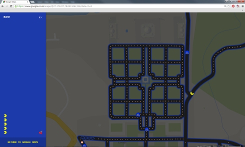 google maps pac man1