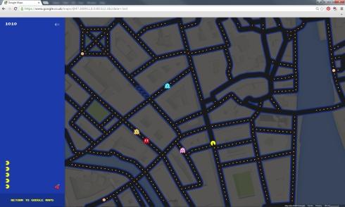 google maps pac man2